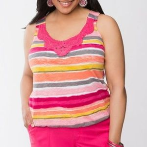 Size 16 Lane Bryant Striped Tank Top